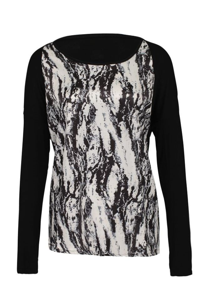 by Queenspark Silver Scatter Print Top