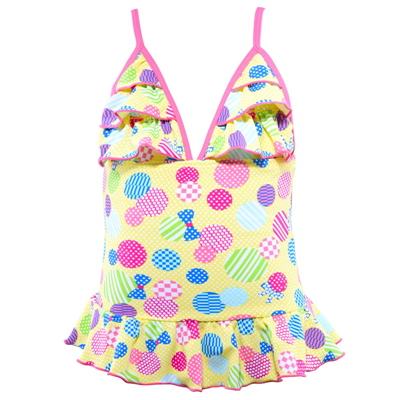 One Piece by Cupid Girl Spot The Dot Frill One Piece