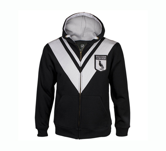 by Classic Western Suburbs Magpies Mens Heritage Hoodie