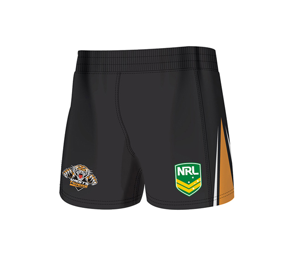 by ISC Wests Tigers Home Supporter Shorts 2 Pack