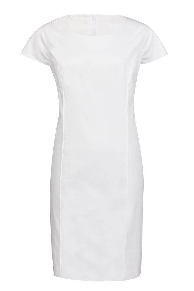 by Queenspark White Contrast Shift Dress