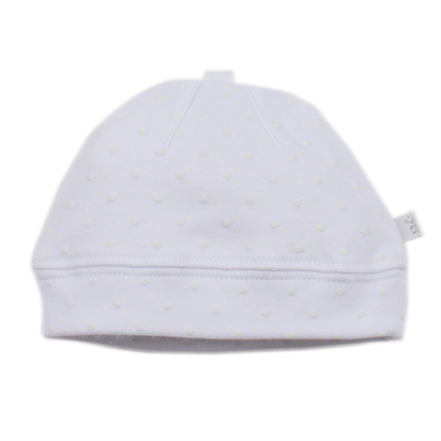 Piece by Bebe by Minihaha White Spot Beanie