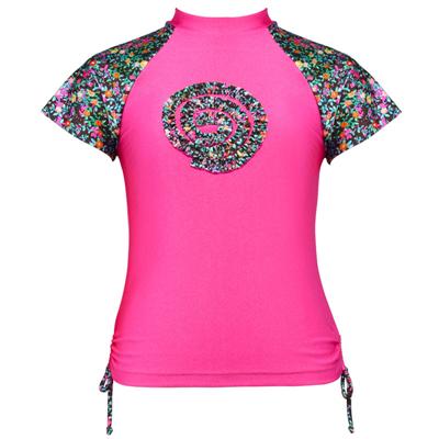 Vest by Cupid Girl Wildflower Short Sleeve Rash Vest